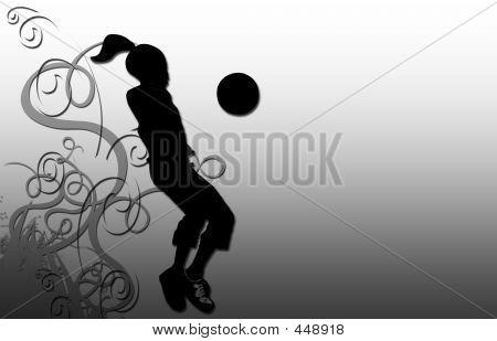Silueta de fútbol