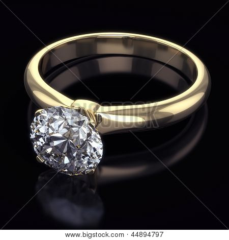 Luxury golden ring