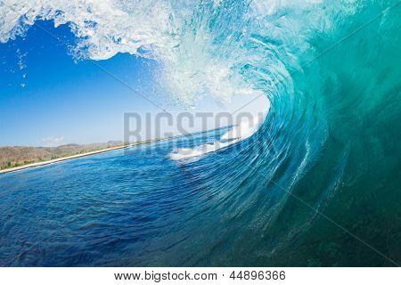 Onda tropical azul oceano