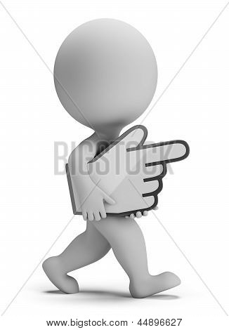 3D Small People - Carries Hand Cursor