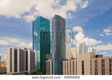 City of Miami Florida downtown  buildings