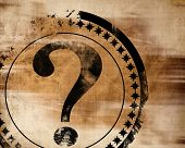 pic of question-mark  - question mark on an old paper texture - JPG