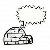 stock photo of igloo  - cartoon igloo - JPG
