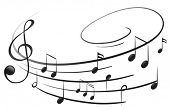 picture of g clef  - Illustration of the musical notes with the G - JPG