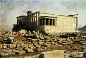 foto of akropolis  - Vintage photo of Parthenon in the Akropolis - JPG