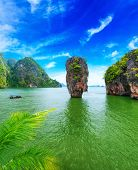 picture of cloud formation  - James Bond island Thailand travel destination - JPG