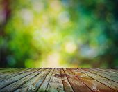 pic of wooden table  - bright background - JPG