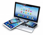 stock photo of 3d  - Mobile devices - JPG