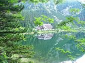 Mountain hut in the Lake