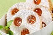 linzer cookies with marmelade