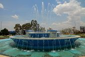 Kigali Downtown Traffic Circle Fountain