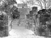 stock photo of conquistadors  - Mayan ruins of Chichen Itza in Yucatan Mexico the Castillo Pyramid  - JPG