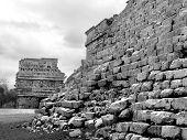 pic of conquistadors  - Mayan ruins of Chichen Itza in Yucatan Mexico - JPG