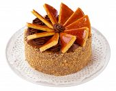 stock photo of hungarian  - Famous Hungarian Dobos torte  - JPG