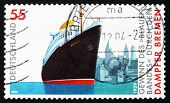 Postage Stamp Germany 2004 Steamship Bremen