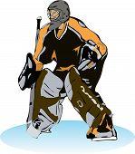 Постер, плакат: Хоккей вратарь