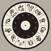 stock photo of cancer horoscope icon  - Horoscope circle - JPG