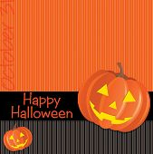 picture of freaky  - Jack o lantern Happy Halloween card in vector format - JPG