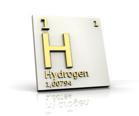 foto of periodic table elements  - Hydrogen form Periodic Table of Elements  - JPG