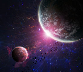 foto of outer  - Beautiful space background with the outer space - JPG