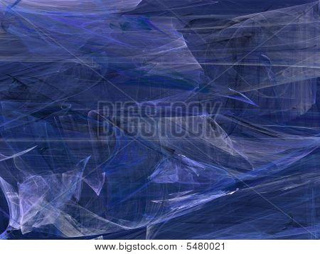 Grunge Random Fractal Pattern In Blues