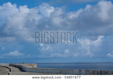 Cloudy Waterfront