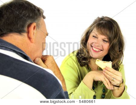 Couple Enjoying Lunch