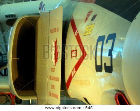 Closeup Of Jet Intake