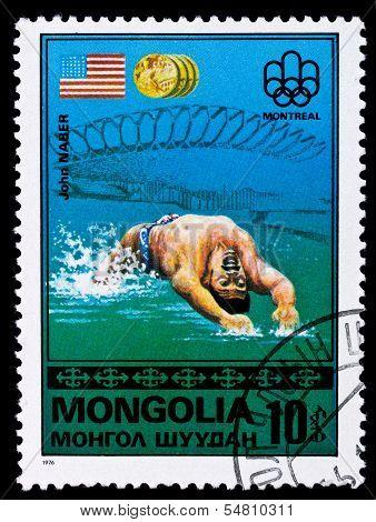 Mongolia Stamp, John Naber