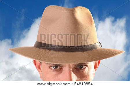 Adventurer Fedora Hat On Head