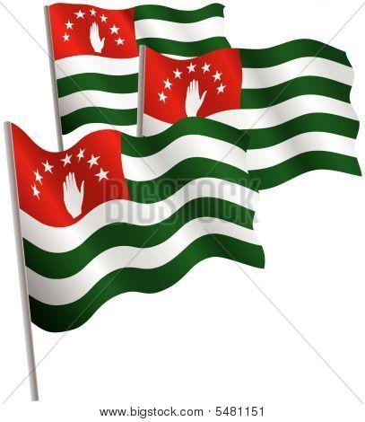 Republic Of Abkhazia 3D Flag.