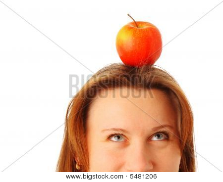 Apple On The Woman's Head