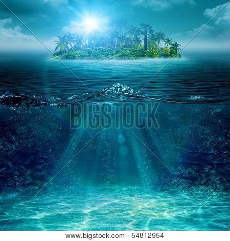 Alone Island In Ocean