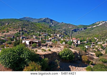 Old Abandoned Greek/turkish Village Of Doganbey, Turkey