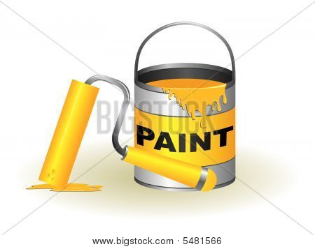 Paint Pot And Roller