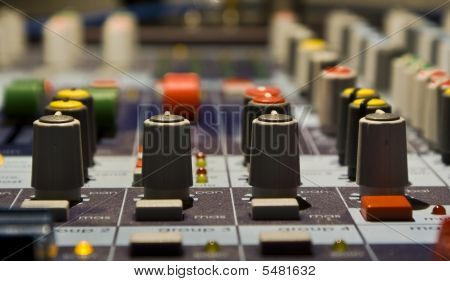 Sound Producer Mixer. Regulators