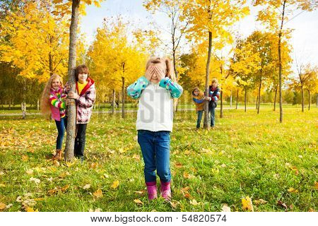 Girl Counting, Friends Hiding