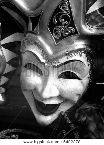 Venetian Carnival Mask - Black And White