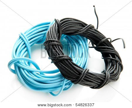 Cables, isolated on white