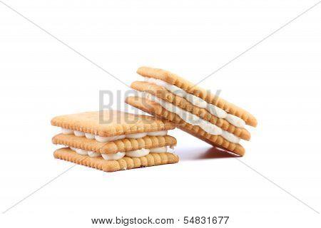 Custard cream biscuits.