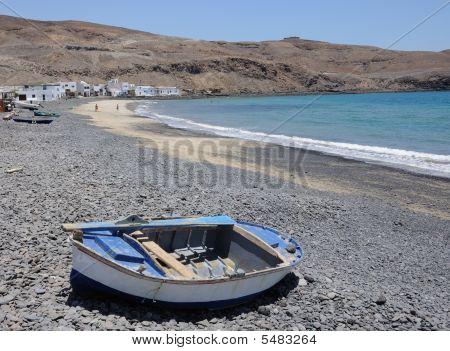 Beach Of Fishing Village,  Fuerteventura, Spain