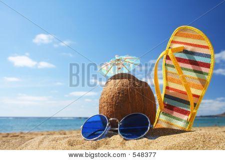 Sommer-Beach-Szene