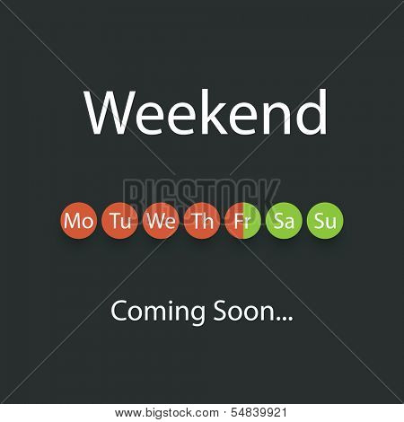 Weekend Coming Soon - Vector Illustratie