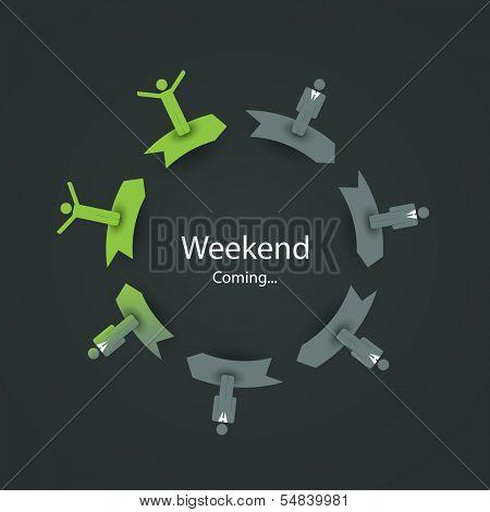 Weekend Coming Soon - Vector Illustration