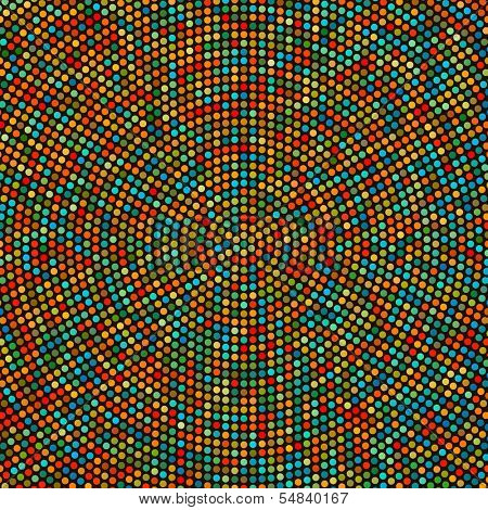 Vector Colorful Concentric Pattern