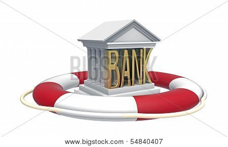 Bank With Lifebuoy