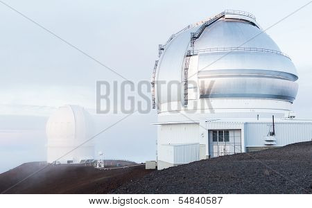 Observatories On Mauna Kea Hawaii