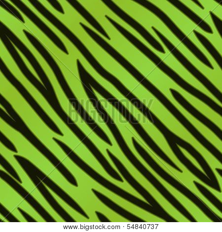 Green Tiger Print