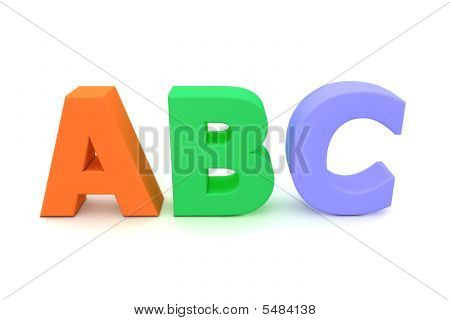 Colourful Letters Abc