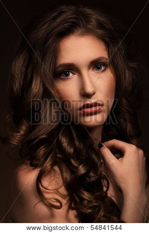 Really beautyful woman is showing her pure natural look